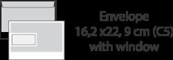 Envelope 16,2 x22, 9 cm (C5) with window